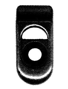 Guide de centrage de capote sur baie de pare-brise de Coccinelle 1303 cabriolet