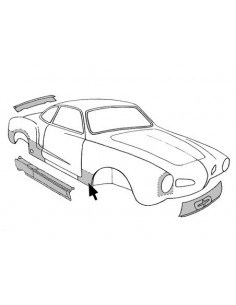 Bas d'aile avant Droit pour Karmann-Ghia 60-74